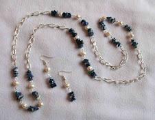 Collar Cod 2436 Lapiz Lazuli y perlas  S/ 35.00 N Soles