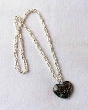 Collar Cod 2457 Corazon de cristal y cadena baño de plata S/ 45.00 Nuevos Soles