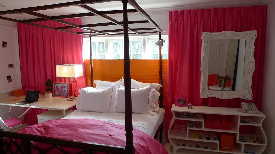 blog achados de decora o toque de cor rosa e pink. Black Bedroom Furniture Sets. Home Design Ideas
