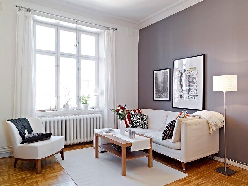 Sala De Tv Parede Cinza ~  olhada nesa combinação da parede cinza + chão de madeira caramelo