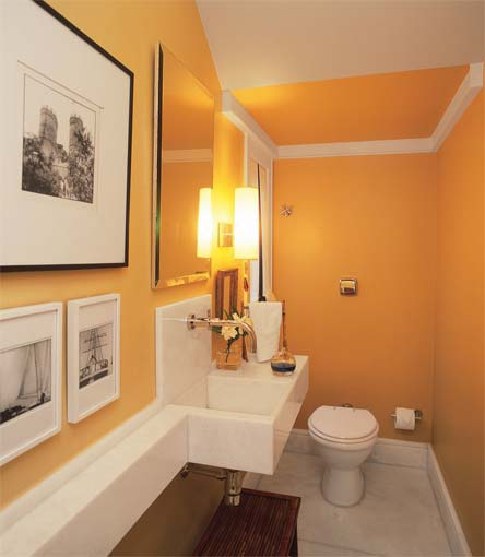 Achados de decoracao inspira o banheiros pequenos e lavabos for Modelos de banos pequenos en ceramica
