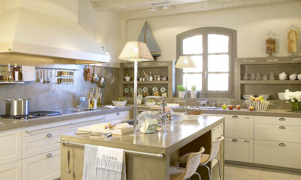 Achados de decoracao cozinha de cimento queimado for Cocinas blancas clasicas