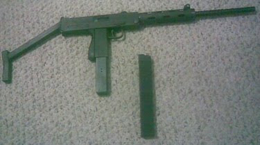 collection of variety guns: Cobray Mac-11 9mm