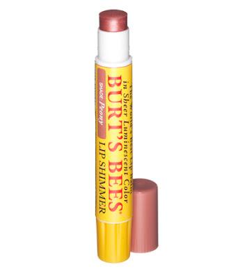 burts bees lip shimmer peony