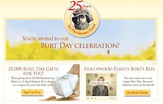 burt's bees 25 anniversary
