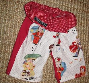 fisherbaby pants, 'Valentine', size 3-6mths