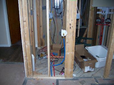 70 hack phase 1 range hood rough some plumbing rough