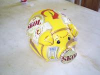 Cofre porquinho skol amarelo