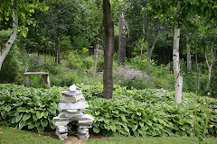 inukshuk and hosta