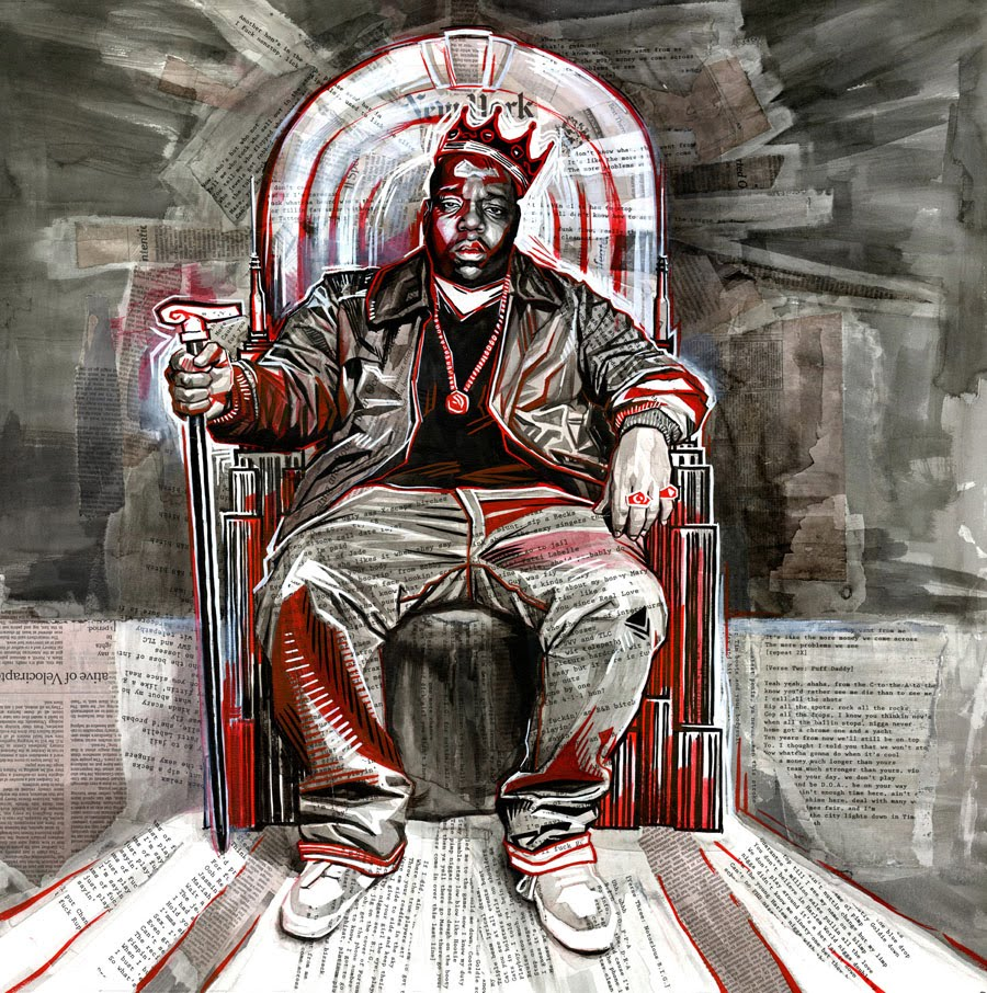 seth armstrong painting of the notorious big for jay z
