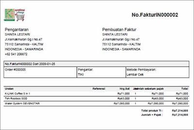 Contoh Nota Pembayaran berupa file PDF untuk Pengunjung setelah ...