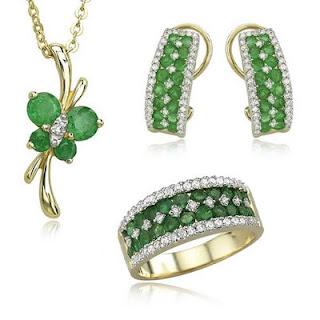 Green CZ rings