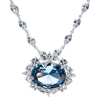 HOPE DIAMOND REPLICA CZ NECKLACE