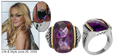 Purple Cocktail Ring Pictures