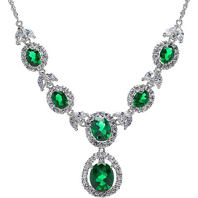 Beaded Green Necklace
