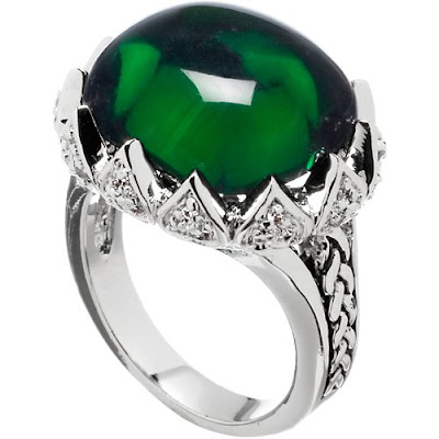 CZ Jewelry with Dark Green Stones
