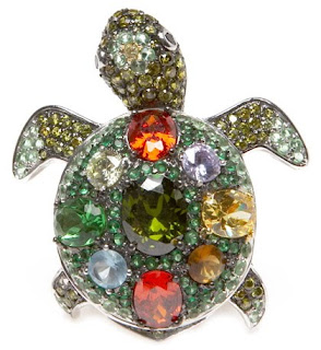 Turtle Cocktail Ring - Cubic Zirconia rings