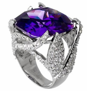 Rita's Purple CZ Cocktail Ring