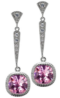 Bruni's Pink CZ Earrings