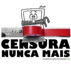 """""""QUEREM CALAR A BLOGOSFERA"""", extraído do blog """"urgente!"""", do jornalista Vítor Menezes."""