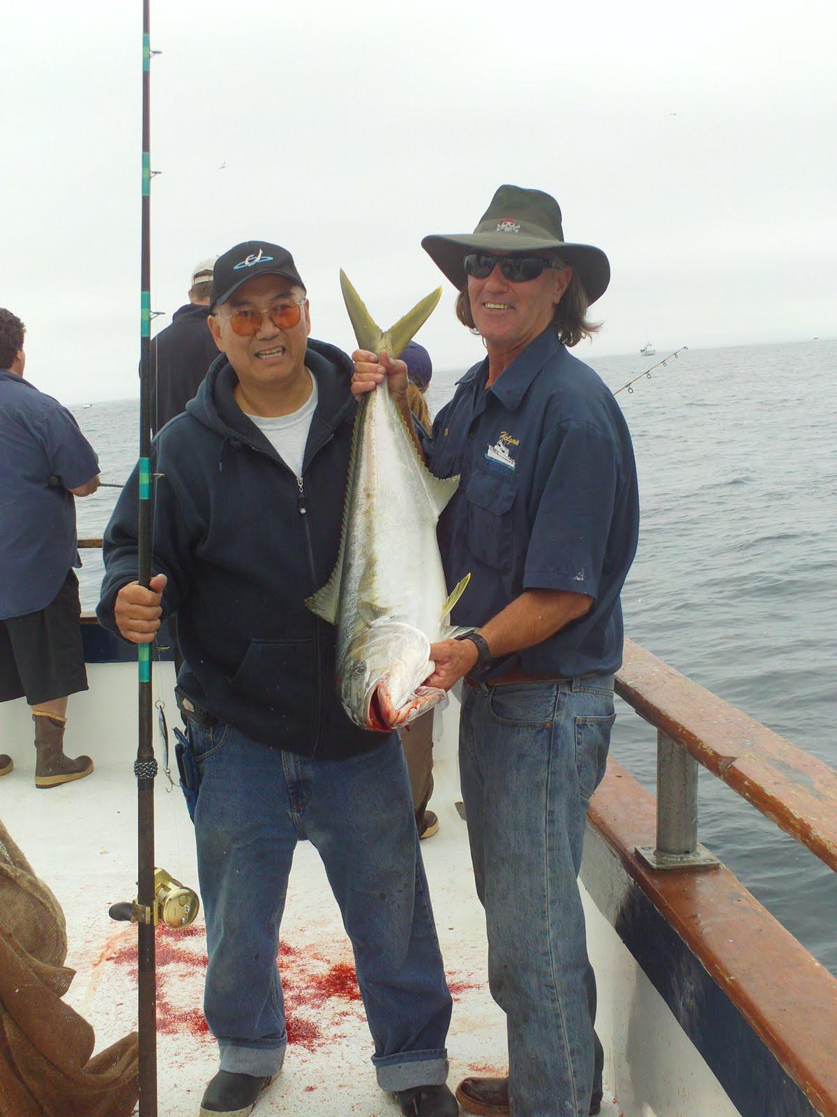Fishing trips journal oceanside 95 yellowtail for Oceanside fishing charters