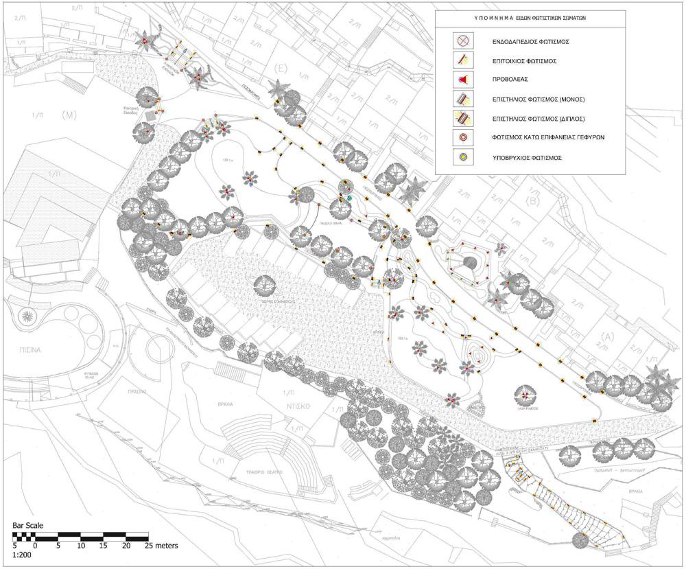 Interract landscape design kalypso cretan village resort for Landscape lighting plan