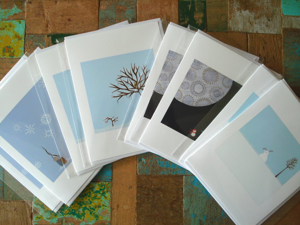 Melissa Moss Art: Holiday Note Cards