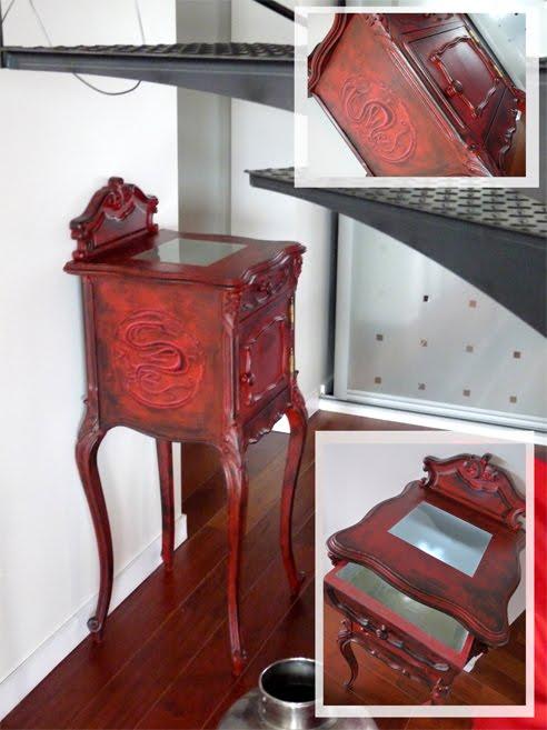peinture deco r fection de petit meuble. Black Bedroom Furniture Sets. Home Design Ideas