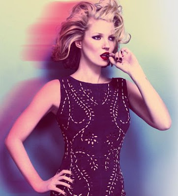 Kate Moss in the 50's style Ad campaign, running up to the big Launch