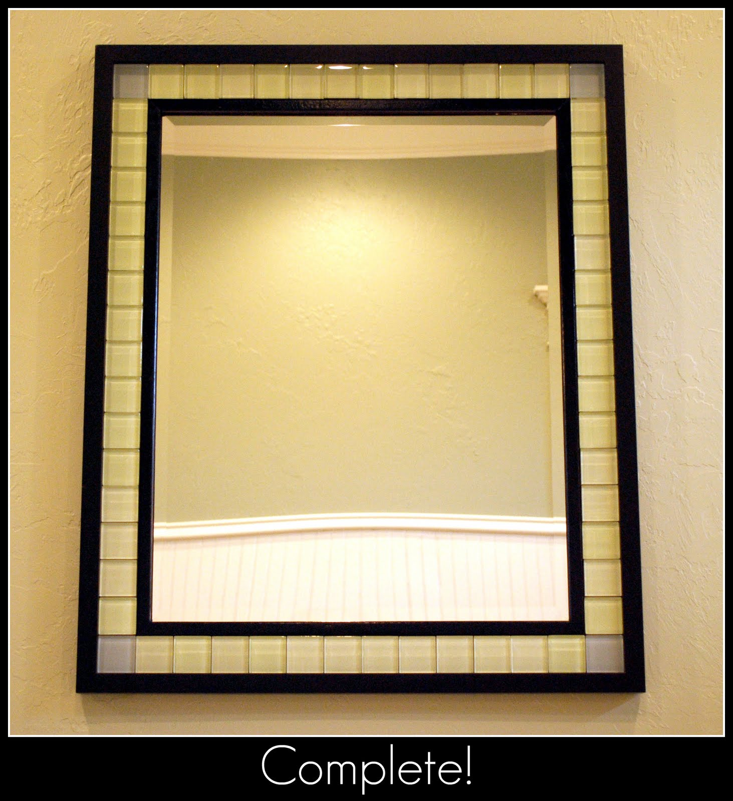 Has Anyone Used Tile To Frame A Bathroom Mirror Thenest