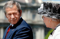 George W Bush and the Queen of England