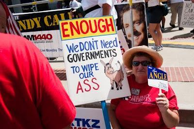 Tea Party Signs, Angry Mob