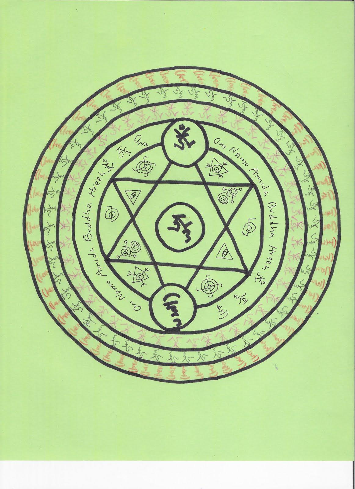 Tanran Reiki Amida Buddha Mandala