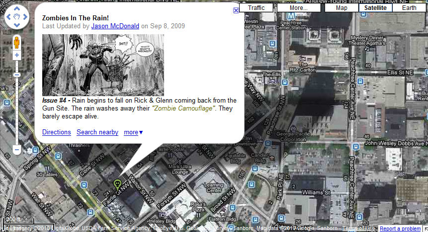 The Walking Dead, los Zombis se pasean por Google Maps - Psicocine on