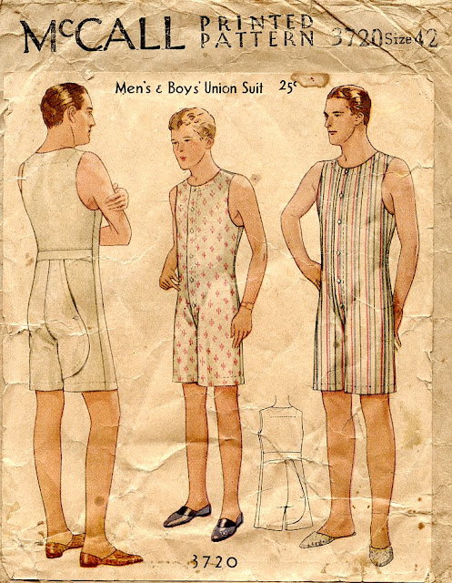 Unsung Sewing Patterns Mccall 3720 Mens And Boys Union Suit