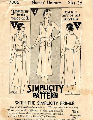 Nurse Uniform Sewing Pattern 36