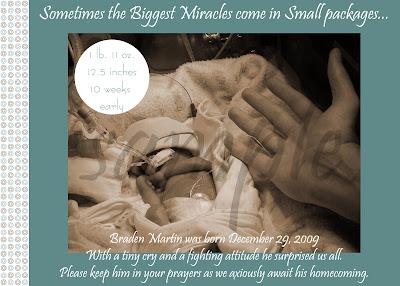 Miracle Monster Designs NICU Birth Preemie Announcements – Preemie Birth Announcements