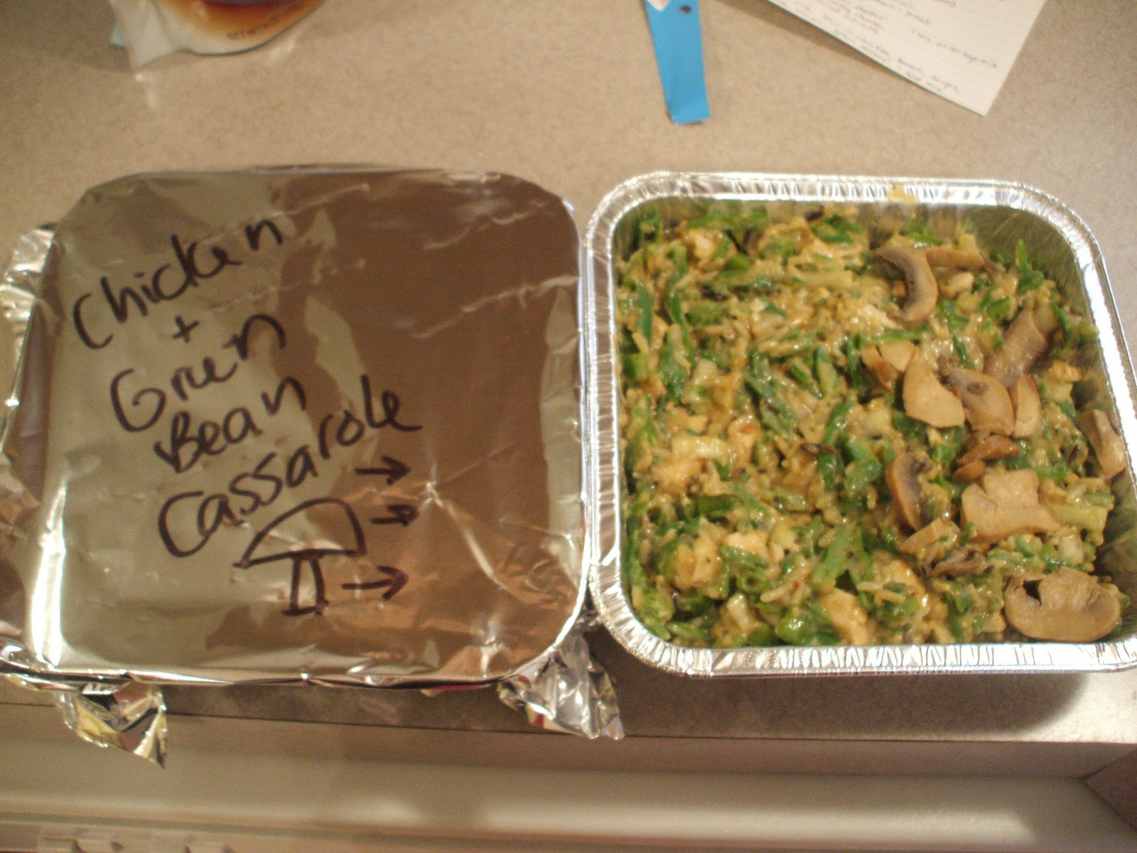 ... casserole. Label the foil to include the name of the casserole