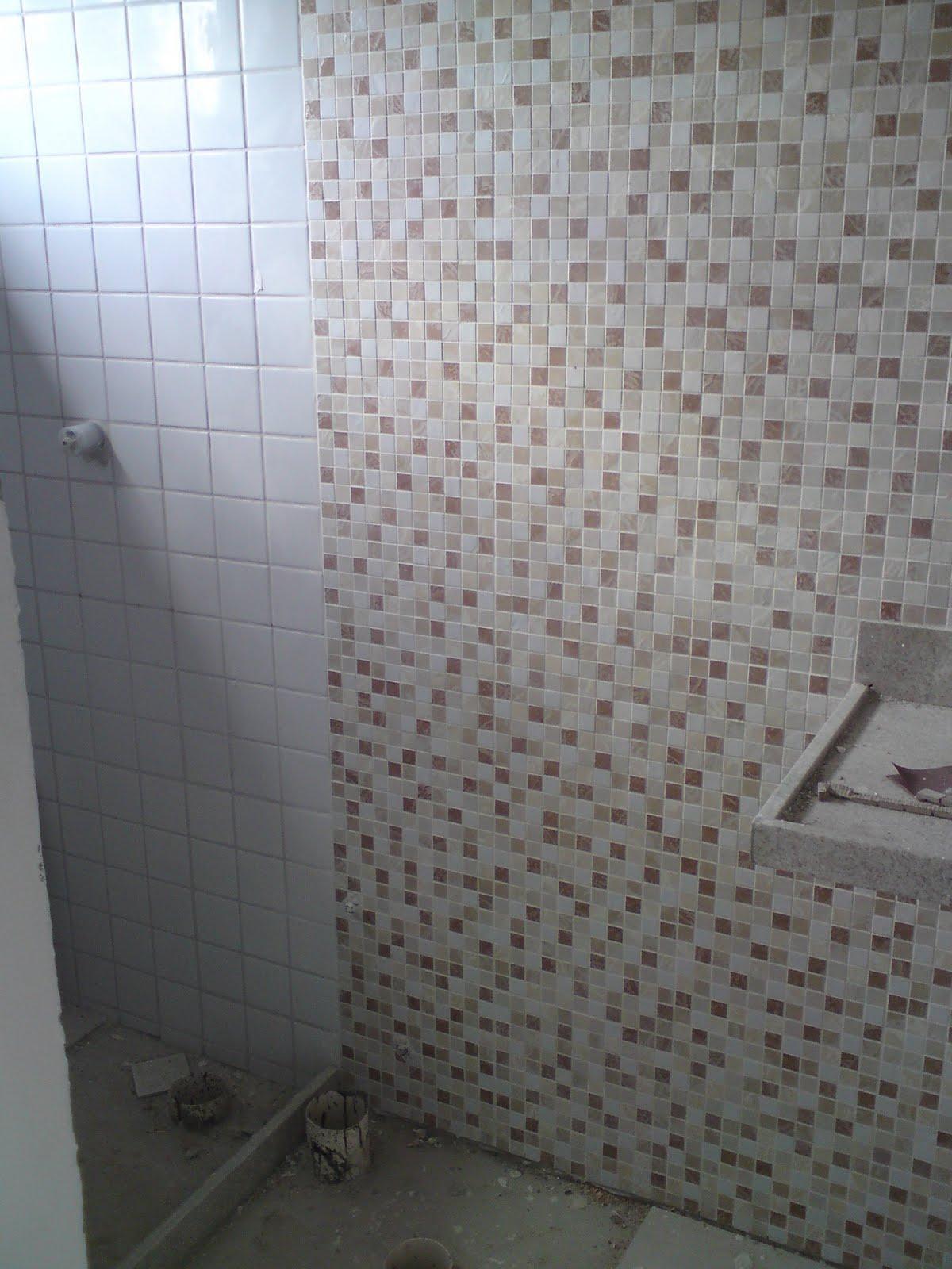 PROJETOS Pastilhas e cerâmicas que imitam pastilhas -> Banheiro Com Azulejo Imitando Pastilha