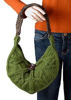 описание вязания зеленой сумки спицами