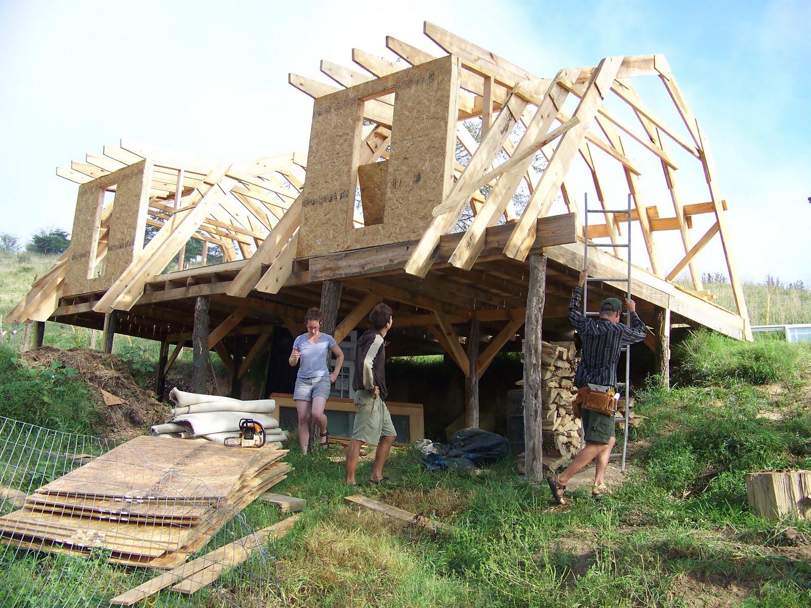 Raven Ridge Farm: Building my house, the frame