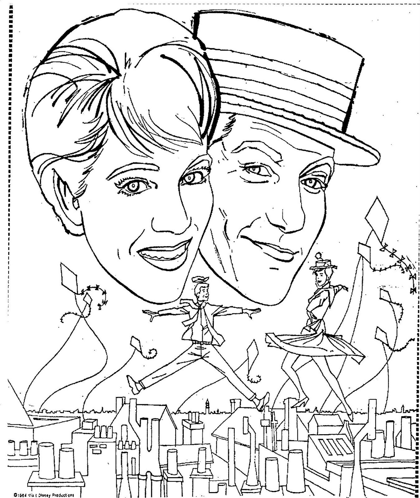 mary poppins coloring pages book - photo#11