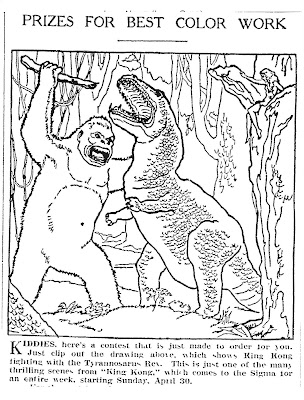 KING KONG COLORING PICTURES Free