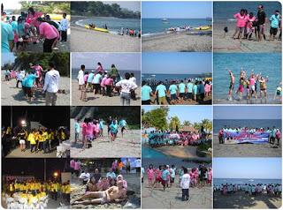 Senggigi Beach in Lombok island Indonesia