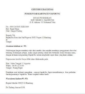 Surat Dinas Contoh Surat Dinas Yang Benar