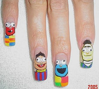 creative  and funny nail art design