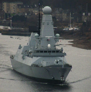 HMS Dauntless, shown here in the Clyde