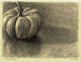 pumpkin drawing by Lori Levin