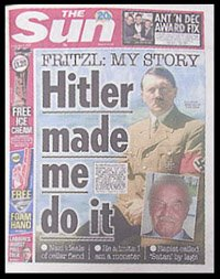 Hitler made me do it - The Sun Titelblatt