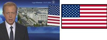 Tagesthemen Flagge USA falsch